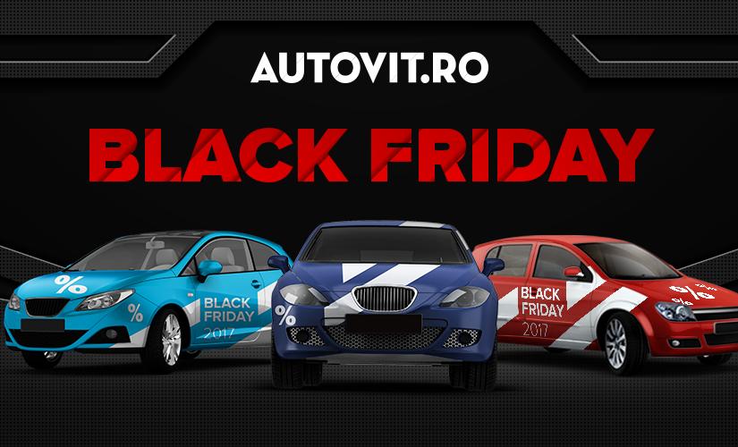 Reduceri de până la 40% la peste 100 de autoturisme pe Autovit.ro, de Black Friday 2017