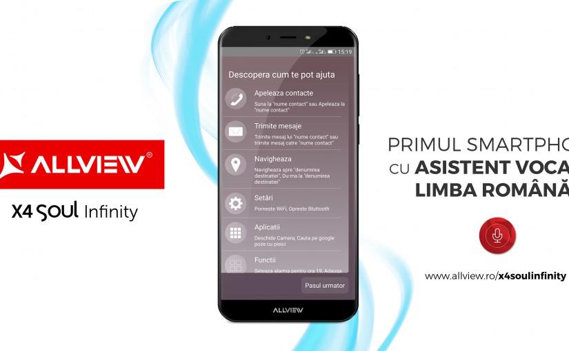 Allview a pregătit o nouă versiune pentru asistentul vocal AVI, cu funcții dedicate pentru Whatsapp și Facebook                       AVI este instalat pe toate telefoanele din gama X4 Soul Infinity, disponibile acum la magazinele partenere