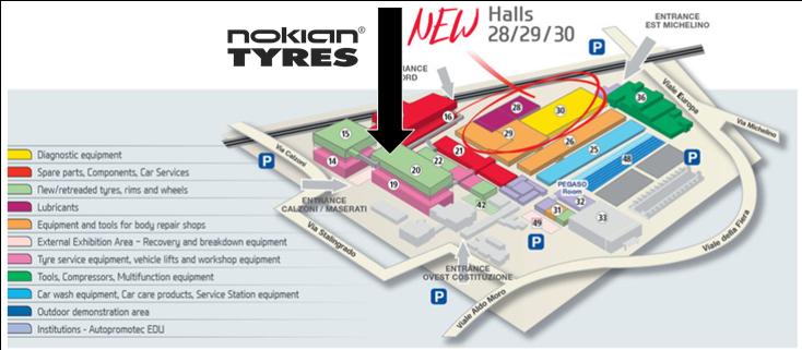 Nokian Tyres te așteaptă la Bologna Trade Fair Center