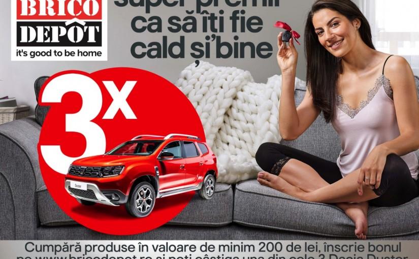 Brico Depôt te pregătește pentru sezonul rece cu o campanie cu super premii